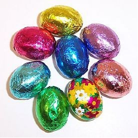 Foil Wrapped Chocolate Easter Eggs