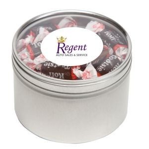 Tootsie Roll® Candy in Lg Round Window Tin